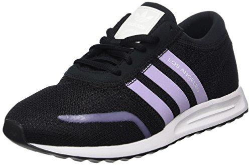 adidas Mädchen Los Angeles sneakers, Mehrfarbig (Core Black/Purple Glow S16/ftwr White), 38 EU