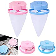 4 PCS Pet Fur Remover Hair Catcher, Washing Machine Lint Traps Lint Catcher, Hair Filter Net Pouch, Cleaning Mesh Bag Home Floating Lint Hair Catcher, Reusable Laundry Clothes Pins for Household Tool