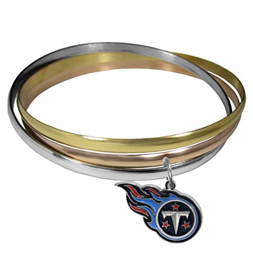 NFL Siskiyou Sports Womens New England Patriots Charm Bangle Bracelet One Size Team Color