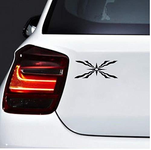 Yangjingkai 2 Stücke Alten Assyrischen Symbol Flagge Vinyl Auto-Styling Auto Aufkleber Dekor Aufkleber Schwarz 14,8 Cm * 5,8 Cm