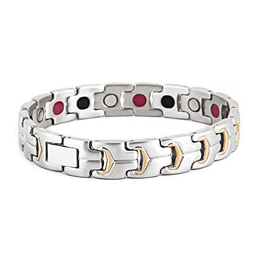 MFWallMirror Magnet Armband Keramik Edelstahl Gesundheit Super Starke Magnet Relief die Schmerzen lindern Müdigkeit einstellbar reduzieren Gelenke