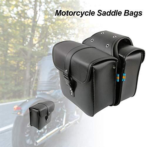 2 Stück Motorrad Satteltaschen, Motorrad Tasche, Motorrad Seitentasche, Universal PU-Leder satteltaschen, Motorrad...
