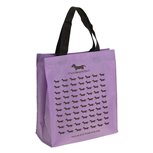 優美社 エコバッグ 犬柄 ブルー 約縦29×横27×マチ12cm WHOLLY A4 サイズ も持ち運べる 買い物袋 3L12-01