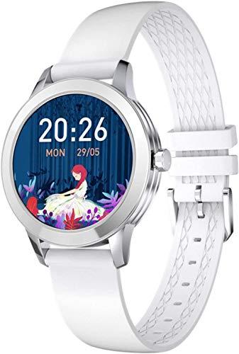 Reloj inteligente para mujer de salud y deportes de fitness Tracker para mujer, pulsera de reloj inteligente con periodo menstrual de frecuencia cardíaca, pulsera de deportes de salud, color plateado