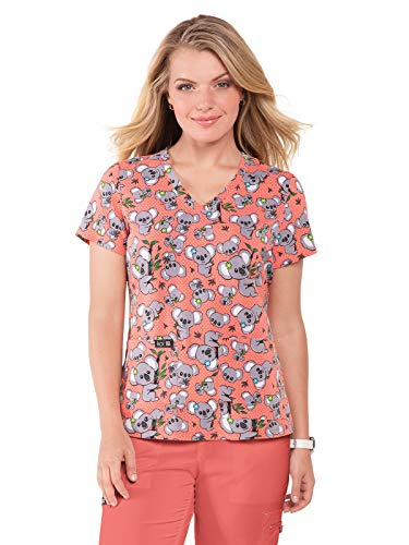 KOI Basics 384PR Women's Scrub Top Koala Express M