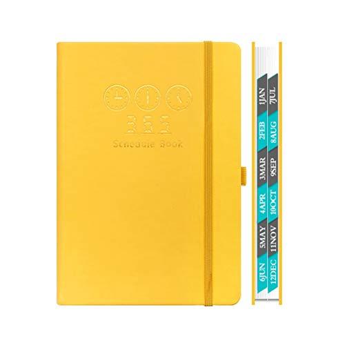 2020 Calendario simple de esta semana Horario es elegante y super gruesa Adecuado hombres de negocios (Color : Yellow)