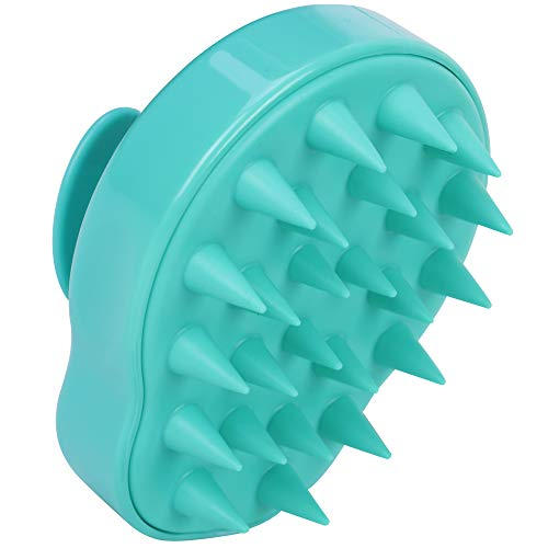 Heartsetpet   Soft Washable Silicone Pet Grooming Brush   for Cats, Dogs and Other Small Pets   Pet Grooming   for Pet Shedding   Professional Pet Grooming Tools (Green)