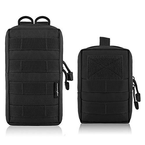 2 bolsas de cintura tácticas Molle, bolsa de utilidad, bolsa multifunción EDC para colgar accesorios