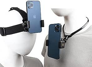 Pellking POV/Vlog Smartphone Head Strap Mount Selfie Neck Holder Mount Kit,Compatible with iPhone Samsung Smartphones,Hero 9, 8, 7, 6, 5, 4, 3, 2, 1, DJI Osmo Action