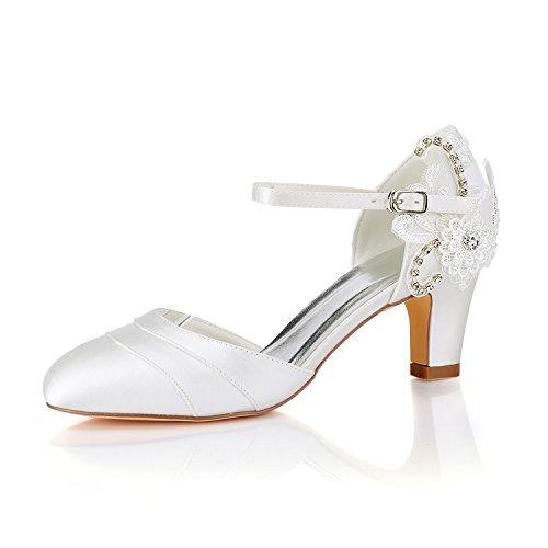 Emily Bridal Zapatos de Boda de la Vendimia Zapatos de Novia de...