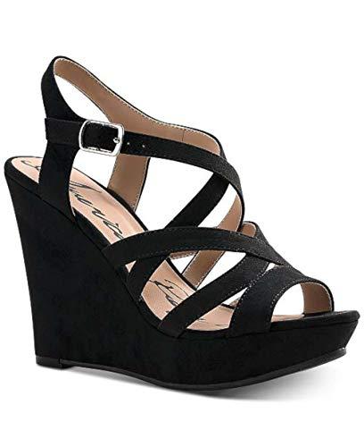 American Rag Women's Shoes Arielle Open Toe Casual Platform, Black, Size 10.0