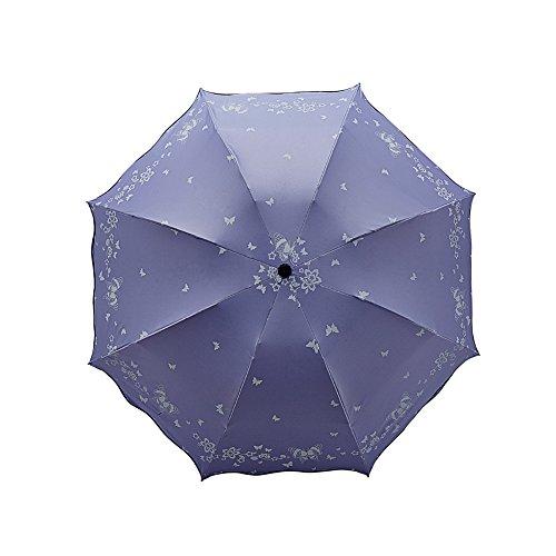 Demarkt–Funda Paraguas Mini Stock Paraguas 3faltender Paraguas sombrilla Beige Morado Medium