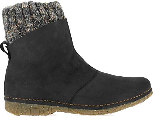 El Naturalista Damen Ankle Boots Angkor, Frauen Stiefelette, Stiefel Boot halbstiefel Bootie reißverschluss Damen Frauen Lady,Black,36 EU / 3 UK