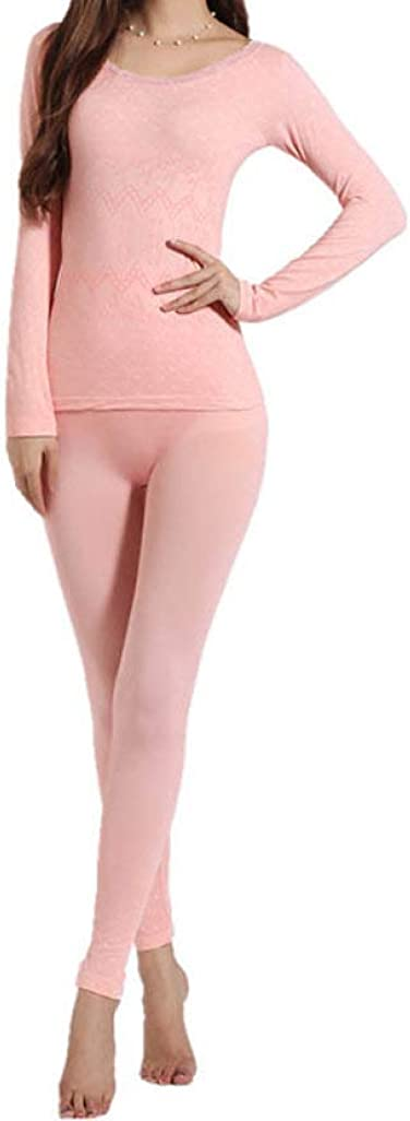 LUCACO Womens Thermal Underwear Set Base Layer Stretch Top & Bottom
