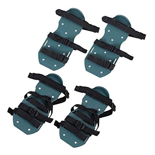 Cerlingwee Zapatos, 4 Correas Sandalias para césped Negro 1 par Suela Inferior de Polipropileno 30x13cm para Cultivo en jardín para Suelos Sueltos(4 Straps, White)