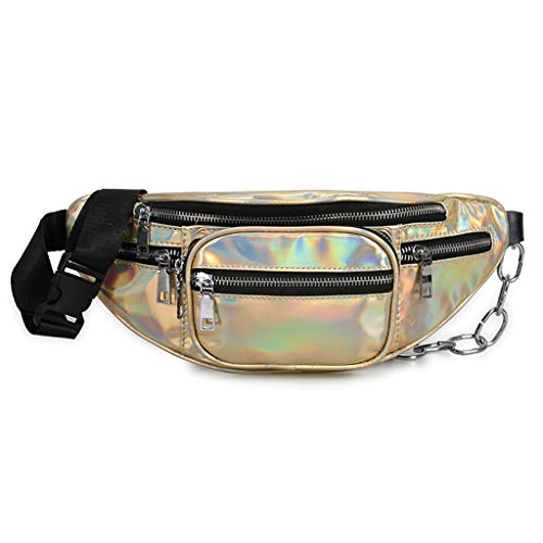 Viesky Bolso de cintura holográfica para mujer, para viajes, hip bum
