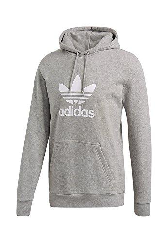 adidas Trefoil Hoodie, Sweat-Shirt de Sport à Capuche Homme, Gris (Medium Grey Heather Medium Heather), X-Large