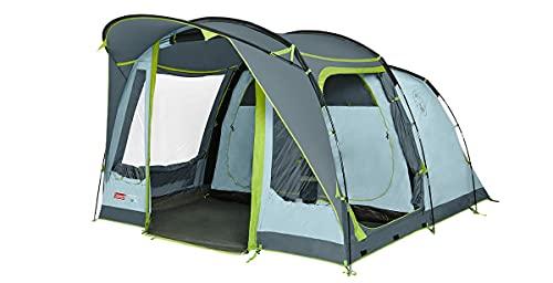 Coleman Zelt Meadowood 4, Camping-Zelt 4 Personen, großes Familienzelt mit 2 extra großen verdunkelten Schlafkabinen und Vorraum, schnell aufgebaut, wasserdicht WS 4.000mm