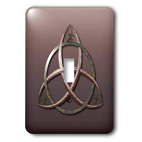 3dRose A stone textured triquetra Celtic trinity knot symbol. - Light Switch Covers (lsp_333408_1)