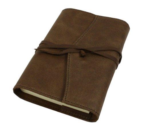 Papuro Milano Nachfülleinlage für italienische Schokolade Braun Leder Adressbuch–9x 13cm