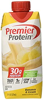 Premier Nutrition Protein Shakes Bananas/Cream 18 Count