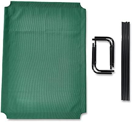 Amazon Basics - Lit surélevé rafraîchissant pour animaux, très grand (153 x 94 x 23 cm), vert