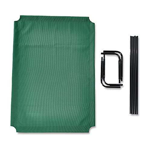 Amazon Basics - Cama elevada transpirable para mascotas, extragrande (153 x 94 x 23 cm), verde
