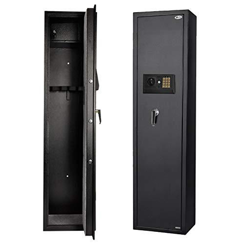 Gun Safe for Rifle, Upgraded Quick Access 5-Gun Large Rifle Gun Security Cabinet for Rifle Shotgun Firearms w/o Optics/Scopes with Pistol/Handgun Lock Box (Keypad PIN Code Safe)