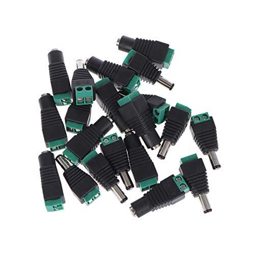 WINOMO 10 Paar männlich und weiblich DC-Stecker Buchse Netzadapter für CCTV-Kamera-LED-Leiste leuchtet