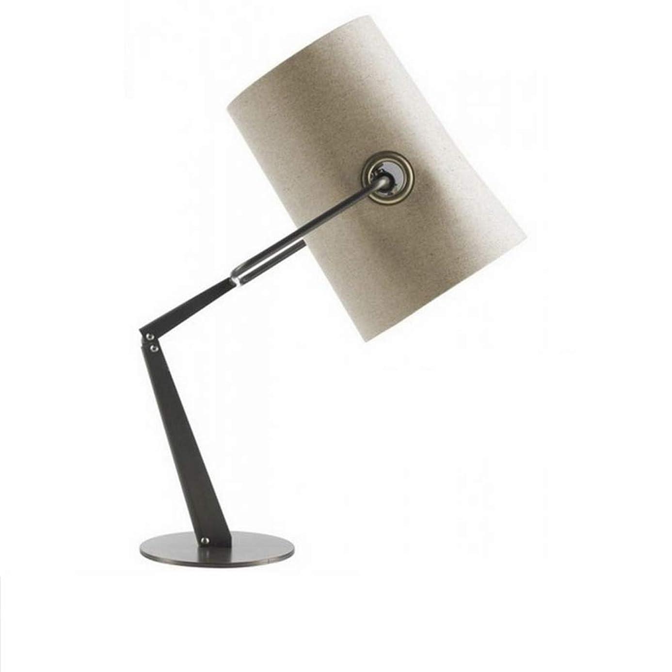 スリル農民ラショナルWMZGDHL LEDテーブルランプリネンランプカバーテーブルランプ読書ランプベッドサイドランプ