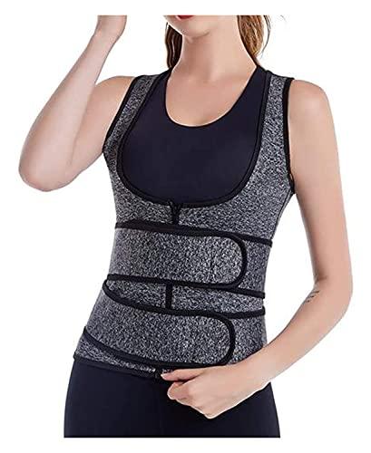 LIXSLT 2 en 1 levantador de busto y cintura moldeador, cierre de cremallera ajustable con gancho y lazo, moldeador para mujeres y adolescentes y niñas uso diario (color: gris, tamaño: 3XL)