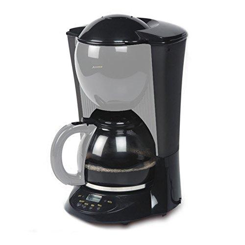 Kaffeemaschine 1,5Liter, Kaffeeautomat mit Timer + Glaskanne, Farbe: schwarz-silber