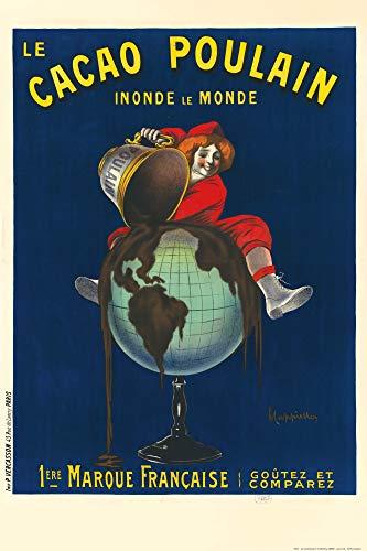 1art1 Leonetto Cappiello - Le Cacao Poulain Inonde Le Monde, 1911 Poster 91 x 61 cm