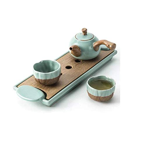 Brightz Tetera, Juego de té, Simple de cerámica del Ministerio del Interior Lateral Tetera Sistema, Caja de Regalo, la Familia, la Oficina Tazas de té,