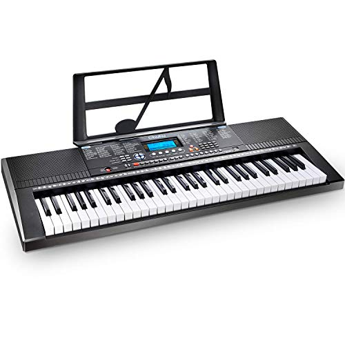 Electric Keyboard Piano 61-Key, Ohuhu Digital Musical Piano Keyboard with Headphone Jack, USB Port & Teaching Modes for Beginners (Renewed)