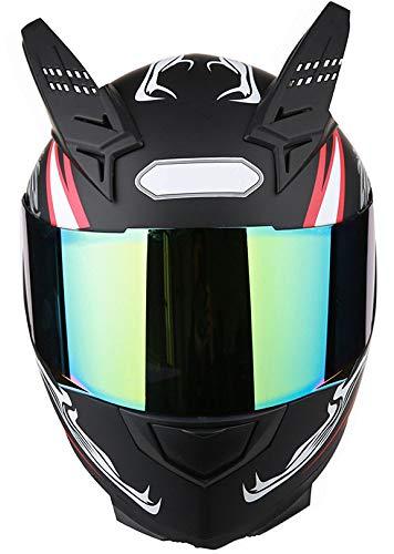 NFJ Motocross Helm, Adult Off Road Helm, Männer Frauen Universal Full Face Motorradhelm Winter Thermische Antifogging Motorradhelm, Beschichtet Sicherheit Off Road Helme,Style1-L
