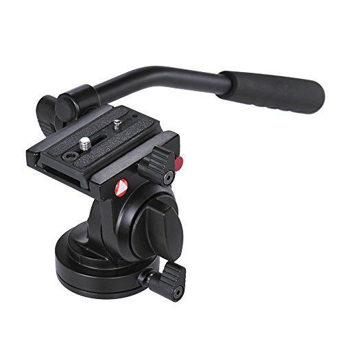 Andoer Grip Control Griff Stativ Einbeinstativ Kugelkopf mit Teller des Release Fluidkopf für Canon Nikon DSLR MAX. 11kg Ladekapazität/5kg-Legierung