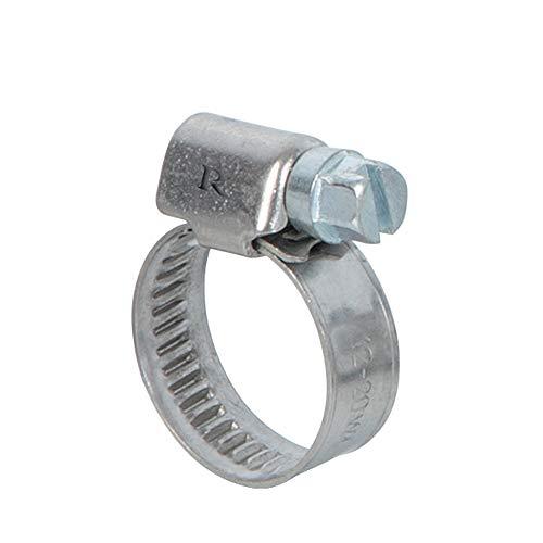 Ribiland 07368 - Collier de Serrage - en INOX Argenté - 12 à 20 mm - 2 Pièces