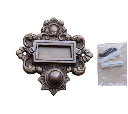 Deurbel Sonnette Messing Klingelschild Haustüre Graf von Gerlitzen Klingel 1 Brass Door Bell Tür Türklingel K55A