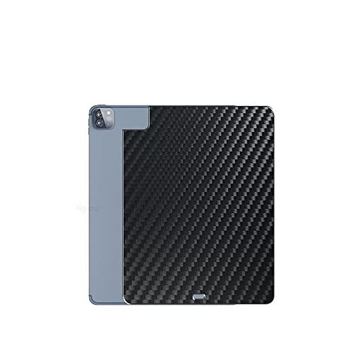 VacFun 2 Piezas Protector de pantalla Posterior, compatible con IPAD PRO 11 2021 M1 Core 11', Película de Trasera de Fibra de carbono negra Skin Piel