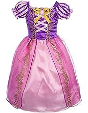 Lito Angels Niñas Disfraces de Princesa Rapunzel Vestidos de Princesa para niña Vestido de Fiesta Elegante