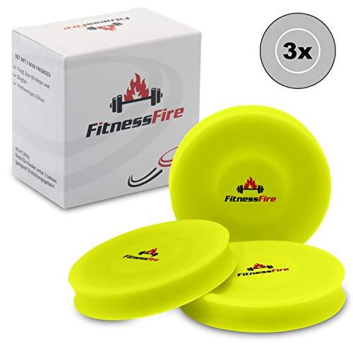 3er Set Mini Frisbee - Die kleine Frisbeescheibe fliegt über 60 Meter weit - Die Neue Trendsportart - Alternative zum gewöhnlichen Frisbeesport