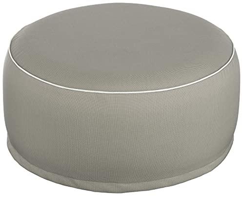 Brandsseller Pouf gonflable pour l'intérieur et l'extérieur - 55 x 25 cm (taupe)