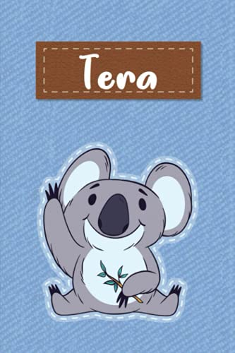 Tera: Lined Writing Notebook for Tera With Cute Koala, 120 Pages, 6x9
