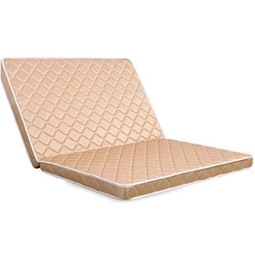 jhgsdh 3e Coir Mattress,Two-fold Foldable Mattress Coconut Fiber Orthopedic Mattress Pad Portable Tatami Floor Mat Firm Feel Quiet-a 180x200cm(71x79inch)