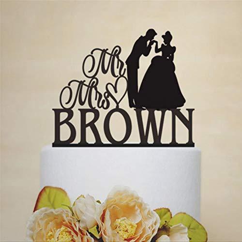 Decoración para tarta de boda Disney Cenicienta para tarta de princesa y príncipe