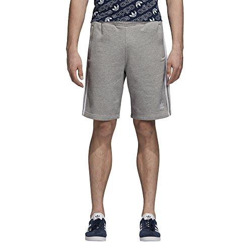 adidas Originals Men's 3-Stripes Shorts, Medium Grey Heather, XSTP