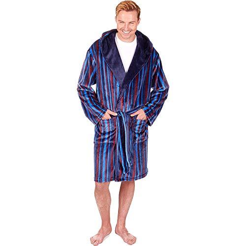 Mens Shawl Collar Luxury Super Soft Feel Plain Gowns Robes Wraps by Sleepy Joe/'s