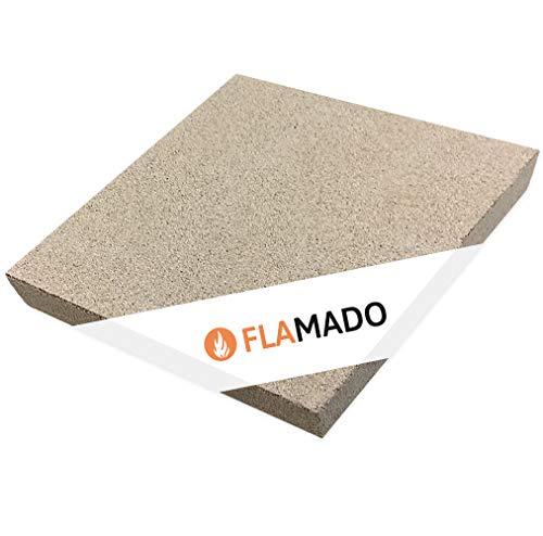Flamado ® Vermiculit Platten 500 x 500 x 30 mm Kaminofen Ersatzteile Feuerfeste Steine Dichte: 600 KG/m3