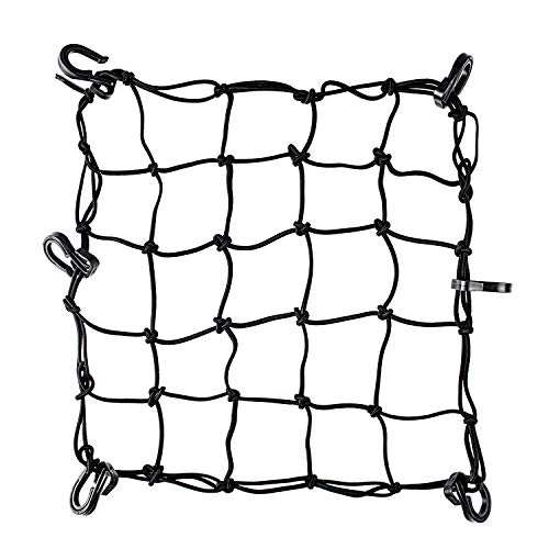 """SunFounder Super Strong Stretch Heavy-Duty 15"""" Cargo Net for Motorcycle ATV - Stretches to 45"""""""